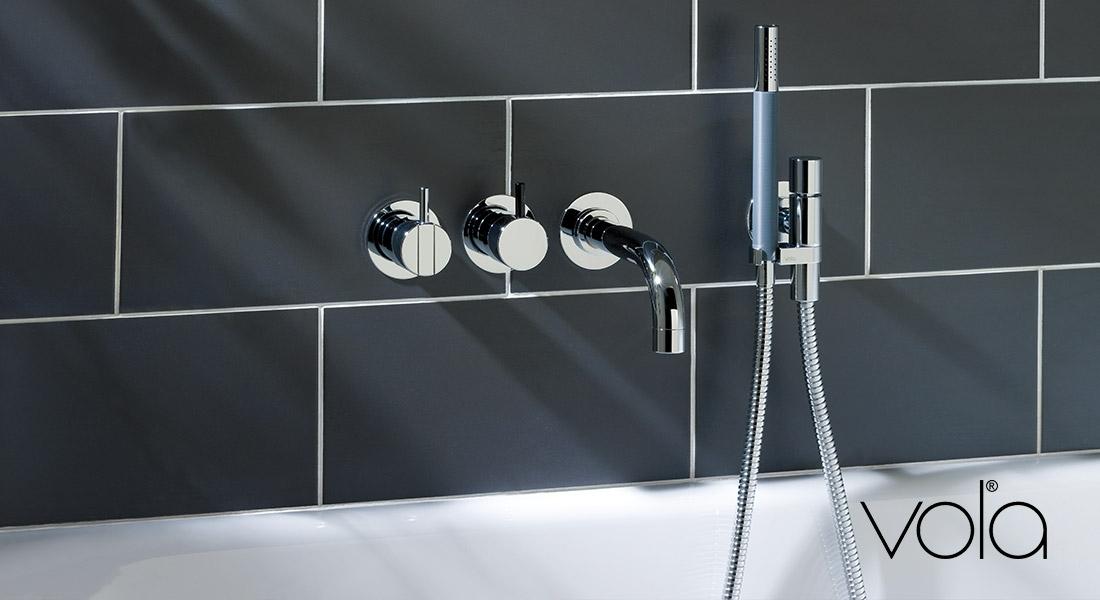 Badkamer Douche Kranen : Vola design kranen voor wastafel douche en bad den bosch