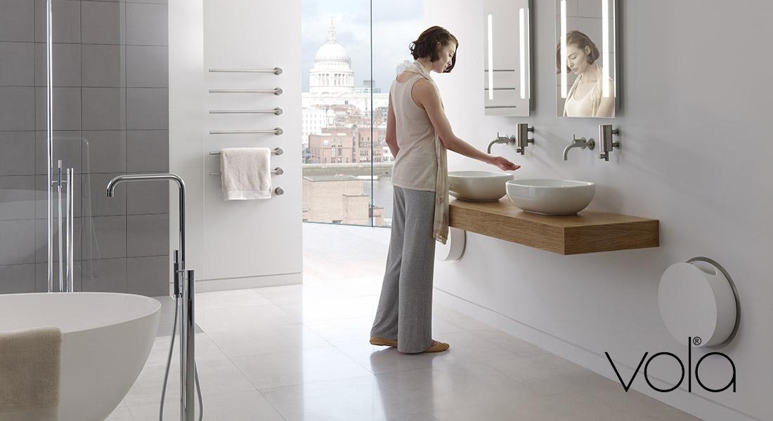 Vola design kranen voor wastafel douche en bad den bosch